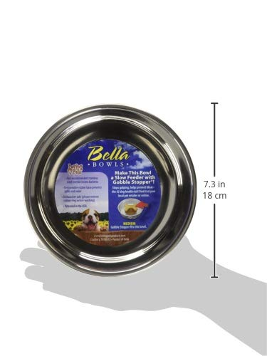 Loving Pets Bella Bowl for Dogs, Medium, Paparazzi Pink
