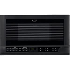 Sharp R-1210 1-1/2-Cubic-Foot 1100-Watt Over-the-Counter Microwave, Black 6
