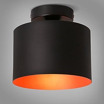 Zqww Ceiling lamp Las lámparas de hierro negro minimalista ...