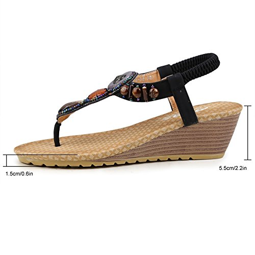 Zicac Women's Fashion Sandals Black 50e7wi