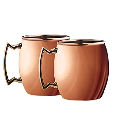 Silver One intl MG-2PK Moscow Mule Mug (Pack of 2), 20 oz., Copper