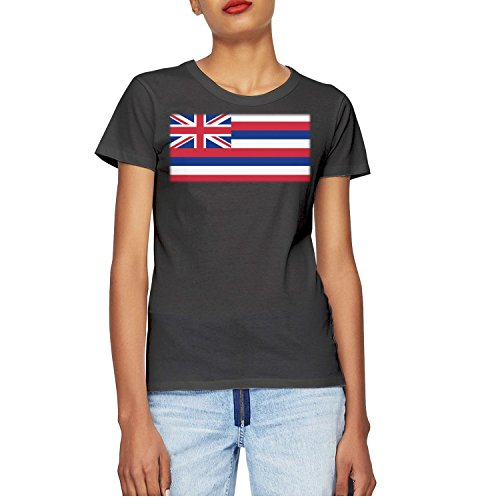 GQN37 Womens T-Shirts Cotton Casual Short Sleeve T-Shirt The Flag Of Hawaii Round Neck Shirts Tops