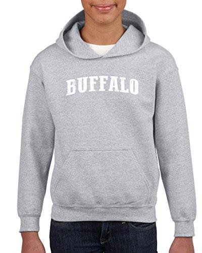 City of Buffalo New York Traveler`s Gift Unisex Hoodie for Girls and Boys (LSG) Sport -