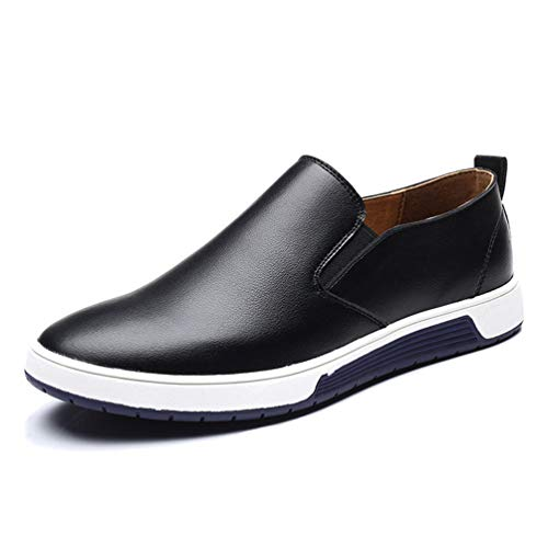Qianliuk Men Leather Loafers Slip On Casual Shoes for Men Moccasins Italian...