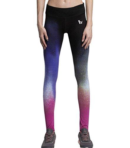 suzone pantalones de deporte para mujer Yoga Leggings medias entrenamiento pantalones Chándal Rose Red 1