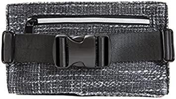 Hip Hugger Black Pocketed Hemp Hip Pack w//Spacious Storage and Adjustable Strap