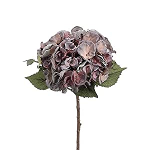 "Oversized Silk Flower Hydrangea in Mauve and Aqua - 19"" Tall - Set of 2 85"
