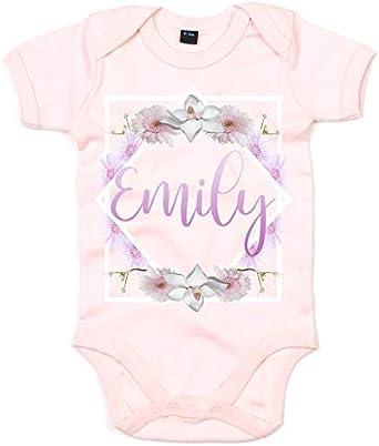 Little Flower-Baby Sleepsuit-Personalised-Baby Gift Baby Present-babygrow-Newborn-Baby Clothing-Baby Girl-Baby Boy-Embroidery