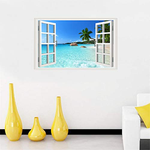 Buy window poster beach