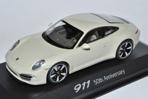 Minichamps Porsche 911 991 Weiss Coupe 50th Anniversary Ab 2012 1/43 Modell Auto