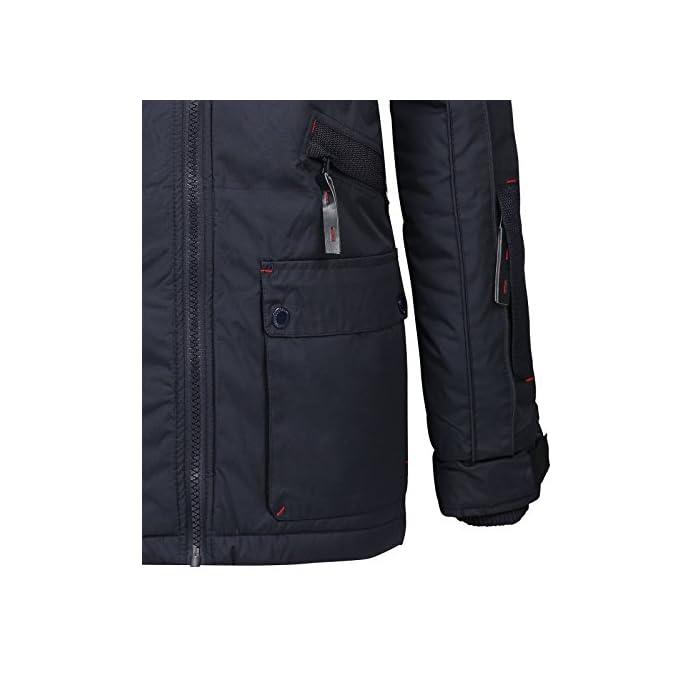 Gran comodidad, capucha y piel sintética extraíble. Transpirable, forro muy cálido. 100% Poliéster