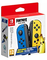 Joy-Con Controller Pair - Blue/Neon Yellow - Fortnite Edition - Nintendo Switch