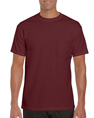 Gildan Men's Workwear Pocket T-Shirt, Maroon, Large ()