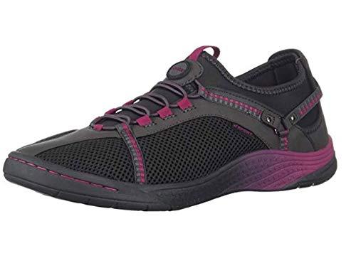 Tahoe Charcoal - JSport by Jambu Women's Tahoe Encore Sneaker, Charcoal/Sangria, 9 Medium US