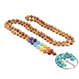 TUMBEELLUWA 108 Mala Bracelet Stone Necklace Prayer Beads 7 Chakra Meditation Handmade Jewelry for Women