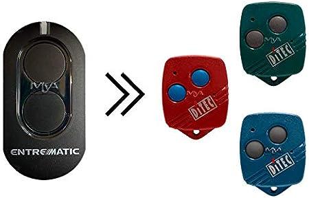 Mando original ENTREMATIC ZEN2 compatible con mandos DITEC BIXLG4, DITEC BIXLP2, DITEC BIXLS2, DITEC GOL4, DITEC BIXLP2 RED