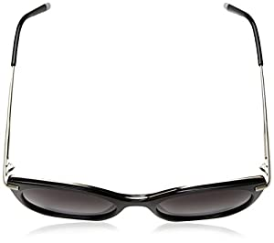 Calvin Klein Women's Ck1238s Cateye Sunglasses, Black, 53 mm