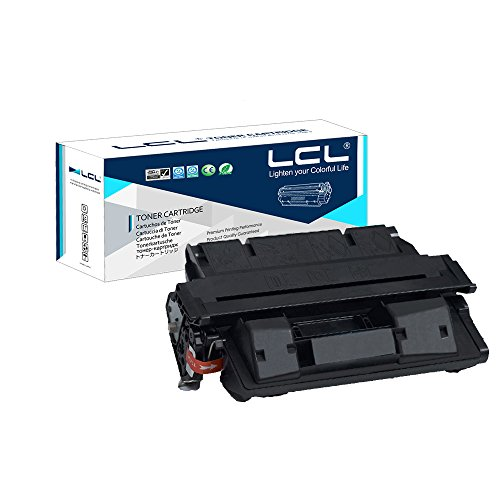 LCL Compatible for HP 27A 27X C4127A C4127X EP-52 EP-52X 10000 Page (1-Pack Black) Toner Cartridge for HP Laser Jet 4000 4000N 4000T Canon (4000t Printer)