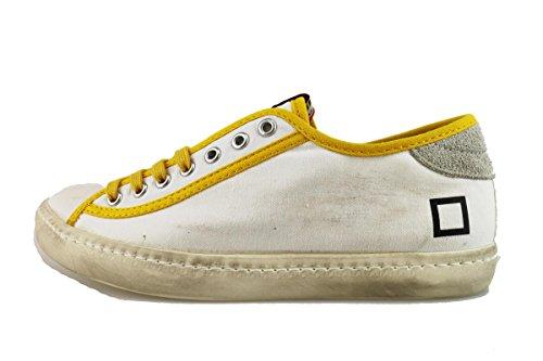 D.A.T.E. (Date) 38 EU sneakers donna bianco tela giallo AH892