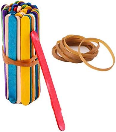 [Gesponsert]Elastische Gummibänder Groß,100 Stück Gummibänder Papierkorbbänder Dehnbare Bänder für Mülleimer Aktenordner Bürobedarf