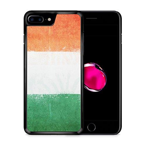 Irland Grunge iPhone 7 PLUS SCHWARZ Hardcase Hülle Cover Case Schutz Schale Flagge Flag Ireland