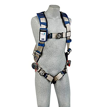 Image of 3M DBI-Sala Exofit STRATA Vest-Style Harness 1112499, Grey, Blue, 2X-Large, 1 Ea Harnesses