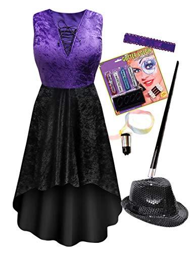 Saloon Dancer Plus Size Supersize Halloween Costume Dress Deluxe Kit 1x