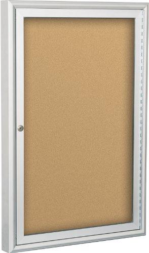 BestRite 3 x 2 Feet Indoor Enclosed Bulletin Board Cabinet, Natural Cork (94PSB-I-01)