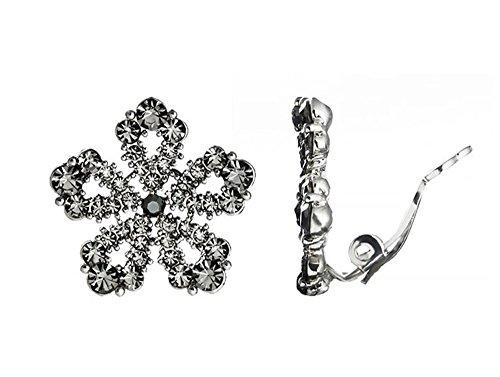 (ZRDMN Jewelry Earrings Water Drop Pendant Stud Earrings for Womens fashion Earrings snowflake snow habitat ear clip))
