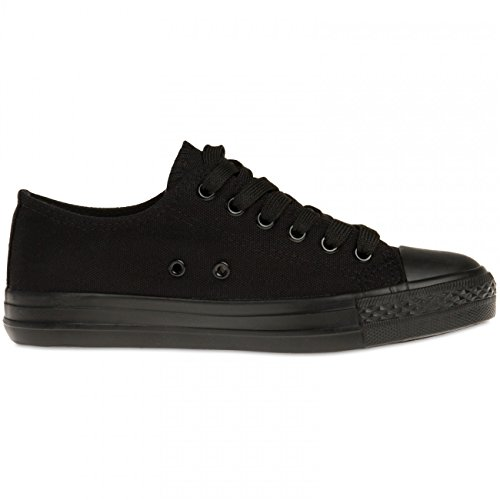 Black SSN002 Sneakers Women CASPAR Black B0q8Z
