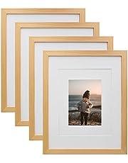 KINLINK Picture Frame Natural Wood 4 Pack