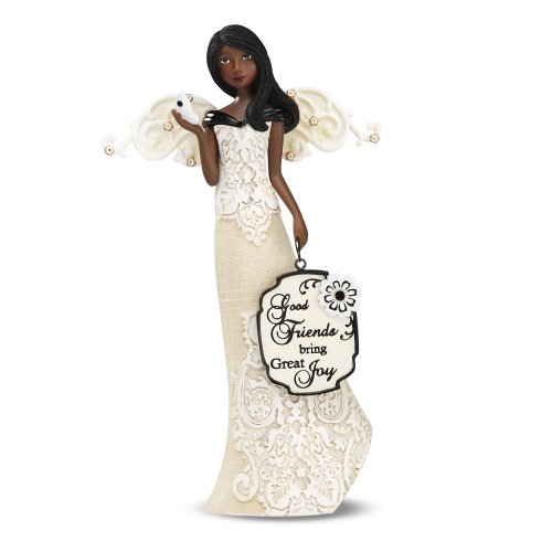 Black Angels Ornaments (Modele Ebony Good Friends Angel Holding Butterfly by Pavilion, Reads