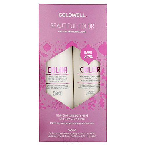Goldwell Dualsenses Color Brilliance Shampoo And Conditioner Holiday Duo 10.1 oz ()