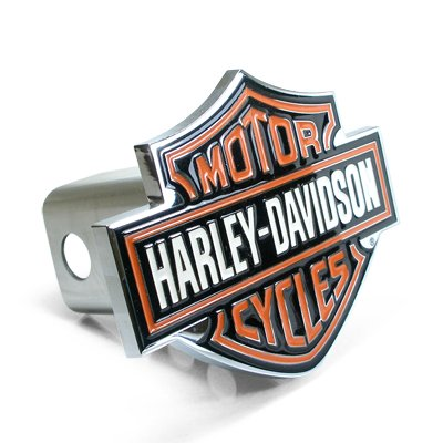 red Bar and Shield Emblem Metal Tow Hitch Cover (Harley Davidson Tow Hitch Cover)