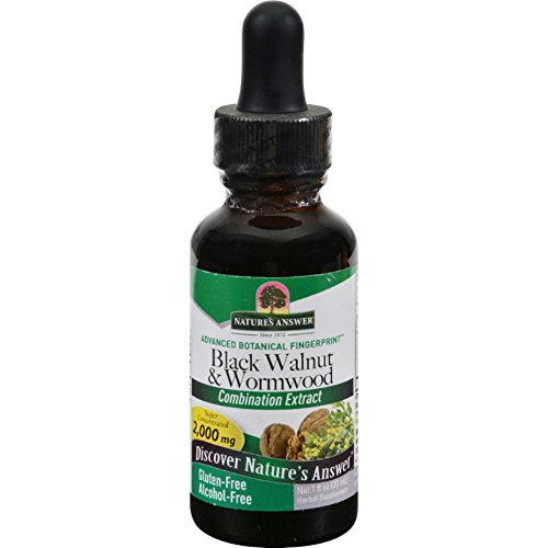 Nature's Answer Black Walnut and Wormwood Complex Alcohol Free – 1 fl oz – Herbal Supplement – Holistically Balanced