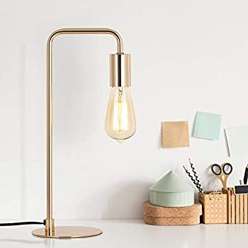 Edison Table Lamp Industrial Desk Lamps Small Gold Metal
