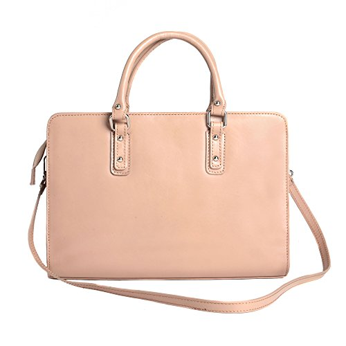 Chicca Borse Handbag Porte documents In Cartel Italien En Cuir Made D'affaires 35x26x11 Boue Cm Femme Italy BHBrwUq8