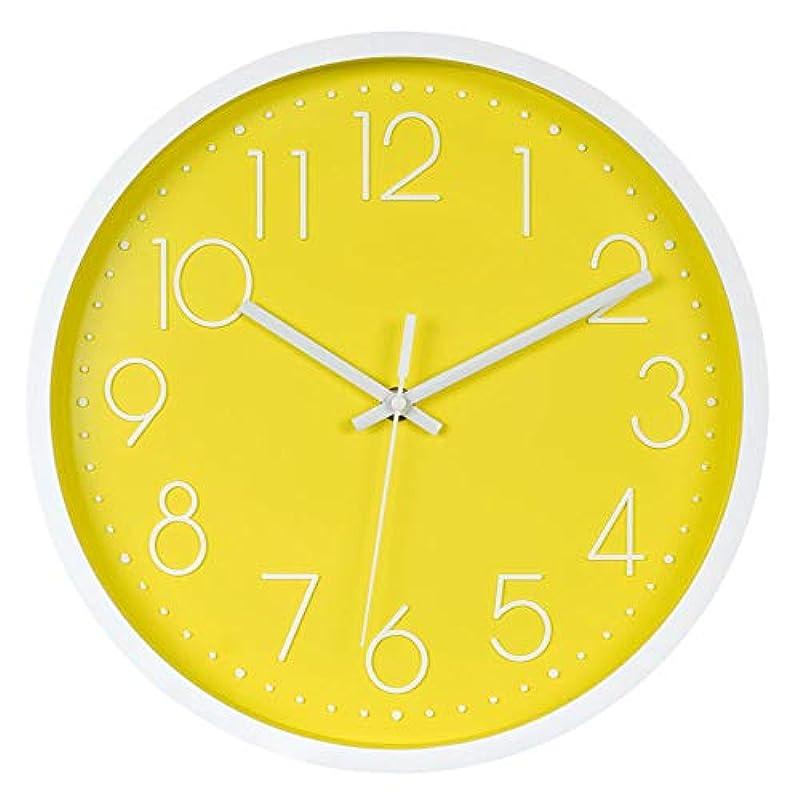 Snifu 벽 시계호 형벽시계 연속 초침 정음 심플 북유럽 탁상시계 직경30CM 침실/방/오피스 5색 선택-핑크 골드