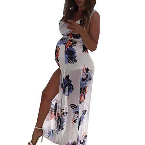 - Iusun Women's Maternity Dress Elegance Floral Sleeveless Sundress Plus Size Nursing Breastfeeding Pregnants for Summer Daily Vacation Holiday