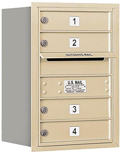 Salsbury Industries 3706S-04SRU 4C Horizontal Mailbox, Sandstone