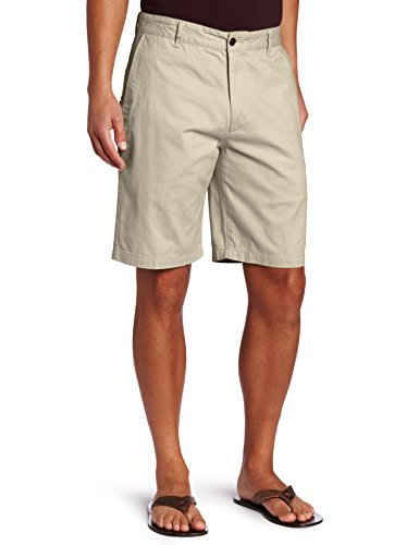 Solid Strap Zipper - Dockers Men's Classic-Fit Perfect-Short - 33W - Sand Dune (Cotton)