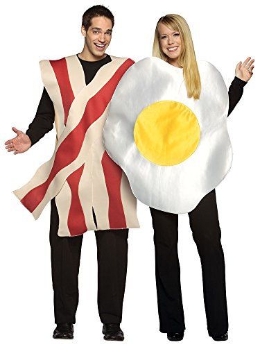 Fun World Unisex-Adult's Bacon & Eggs Adlt Cstm, Multi One Size ()