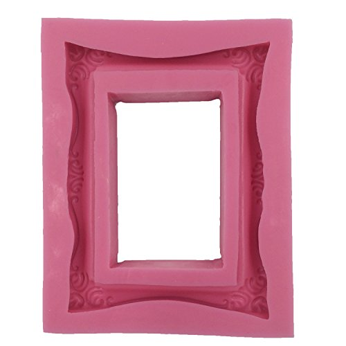 Large Baroque Picture Frame Fondant Cake Decoration Tool Cupcake Topper Silicone Mold Clay Mold ()