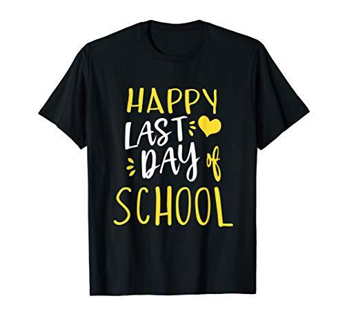Happy Last Day Of School T-Shirt Teachers And Students Gift (Happy Last Day Of School T Shirt)