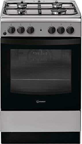 Indesit IS5G4KHX/IT - Cocina de gas con 4 fuegos con horno ...