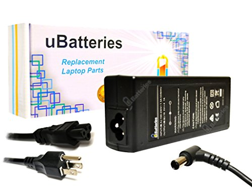 (UBatteries Compatible 19.5V 90W Laptop AC Adapter Charger Replacement For Sony VAIO Part# VGP-AC19V39 VGP-AC19V19 PCGA-AC19V3)