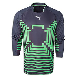 Puma Mens Statement Goalie Jersey Medium Ebony/Green
