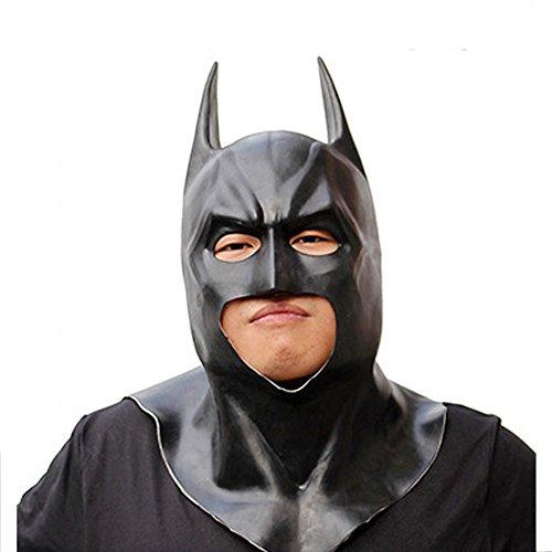 Halloween Batman Latex Mask Dress Up Cosmetic Dance Easter Party Cosplay (Batman Halloween Makeup Mask)