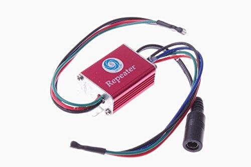 SMAKN® 12V 12A IP65Impermeable Tira LED repetidor Amplificador RGB Luz Ánodo Común