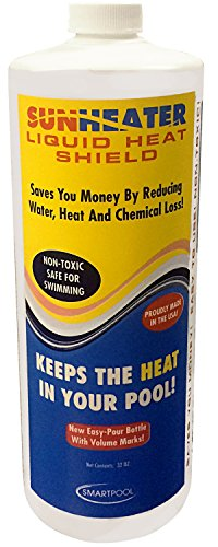 Aqua Pool Heaters - SunHeater Solar Blanket Liquid HeatShield SHS32 Solar Blanket in a Bottle